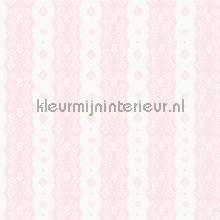 Dentelle stripe pink papel de parede Room Seven Beb�s Crian�as