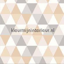 Colourcollage piramides beige papel de parede Origin Beb�s Crian�as