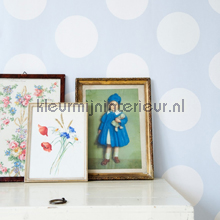 Dots blue papel de parede Room Seven Beb�s Crian�as