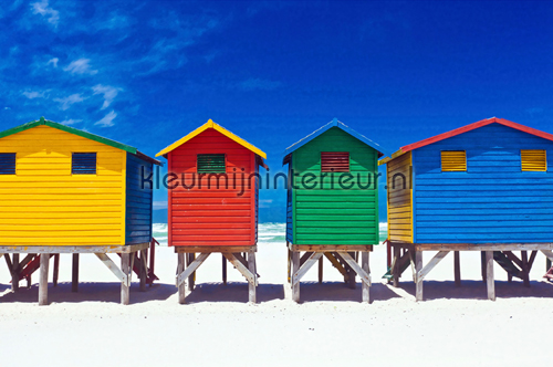 Behang Kinderkamer Strand : Colourful Houses 470-339 fotobehang XXL ...