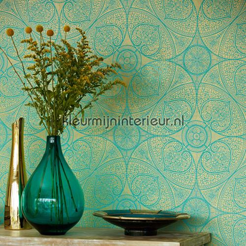 Indian pattern 341752 behang yasmin van eijffinger for Tapete orientalisch