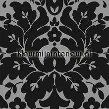 klassiek zilver zwart behang