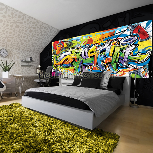 Colourful graffiti fotobehang 1400-VE P kinderkamer jongens ...