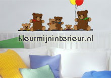 Teddy bears interieurstickers Ideal Decor Baby Peuter