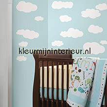 White Clouds autocolantes decoracao RoomMates Beb�s Crian�as