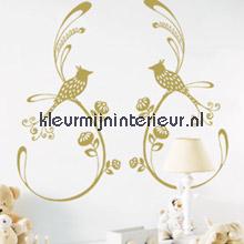 Kotori golden birds interieurstickers Caselio silhouetten