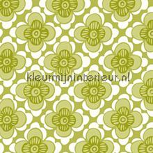 Bloemenruit groen 3859 behang eco happy eco wallpaper for Praxis vloerkleed