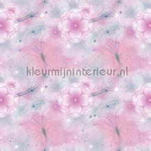 Fairies pink flower background