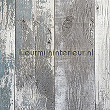 Oud hout grijs-turquoise