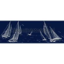 Sailboat border blue