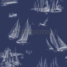 Sailboat toile blue