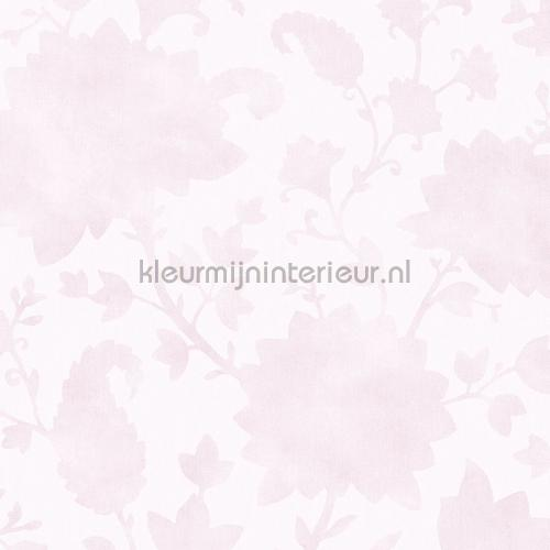 Meisjes Behang Pastel.Blend In Flowers Pastel Roze Meisjes Behang