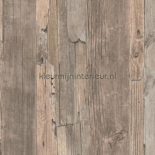 Behang Steigerhout Motief.Steigerhout Hout Behang