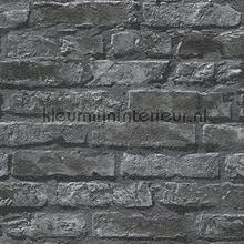 Behang stenen muur motief