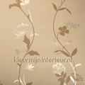 Metal flowercurves beige