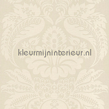 Large damask off white