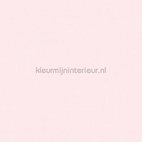 Behang Baby Roze.Licht Roze Met Fijn Linnen Relief Baby Peuter Behang