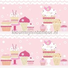 Cup cake rand roze