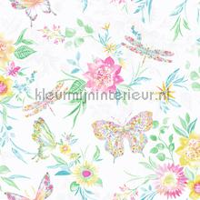 botanical butterfly Multi White