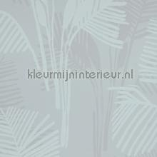 Palm leaves greyblue