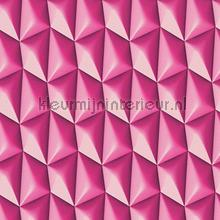 3d piramid grid pink