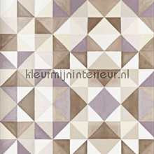 Bold cubism brown wallpaper