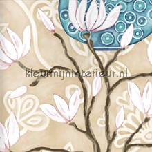 In bloom beige wallpaper