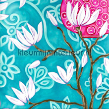 In bloom blue wallpaper