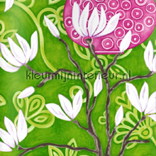In bloom green wallpaper