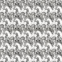 Escher ruiters wallpaper