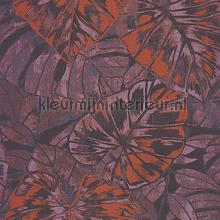 PANAMA FEUILLES ORANGE-PRUNE