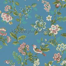PiP Botanical Print Bright Blue