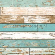 Wooden strokes turquoise