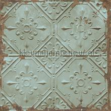 Old tin ceilingtiles aqua