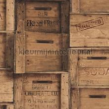 Wooden boxes brown