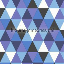 Colourcollage piramides blue Grafisch - Abstract