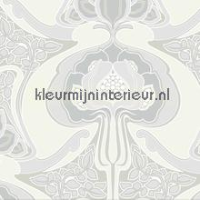 Funky art nouveau pattern grey