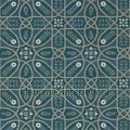 Brophy trellis deep teal