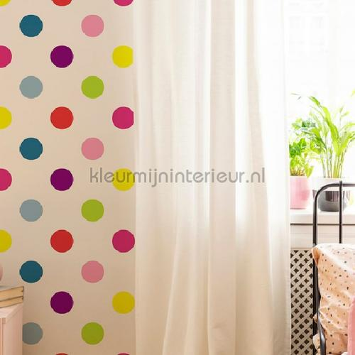 Dotty Multi Bright Wallpapier papier peint