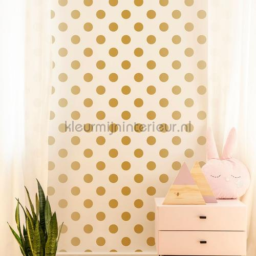 Gold Dotty Wallpapier papier peint