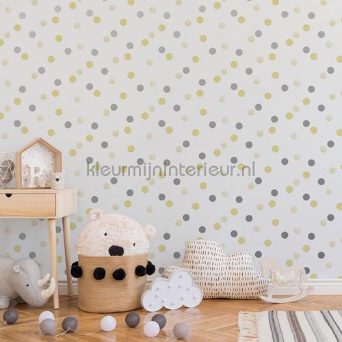 Dotty Polka Yellow Silver