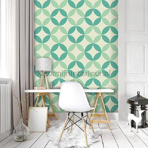 Mint graphic leafs
