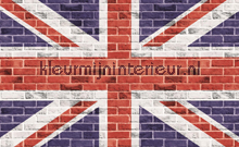 Graffiti on the brick wall gb flag