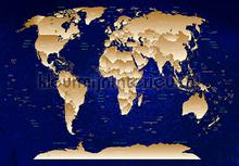 Worldmap deep blue