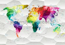 Multi color worldmap