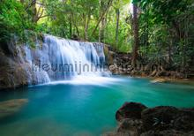 Waterfall wit turquois water