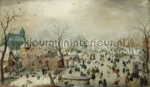Winterlandschap met schaaters Hendrick Avercamp