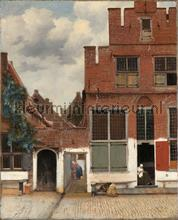 View of houses in Delft the little street Johannes