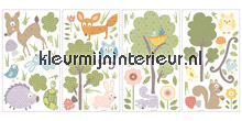 Bos dieren stickers woodland
